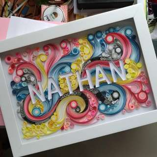 Paper Quilling In Frame
