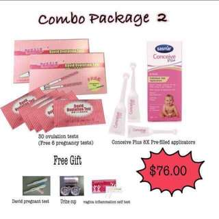 Ovulation test with conceive plus