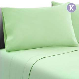 King Size 4 Piece Micro Fibre Sheet Set  Apple