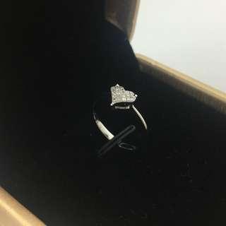 18K白金 17份鑽石 戒指 18K White Gold 17ct Diamond Ring 可議價