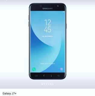 Kredit handphone Samsung Galaxy j7 Plus