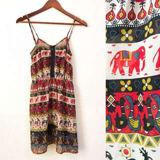 Elephant Chiffon dress