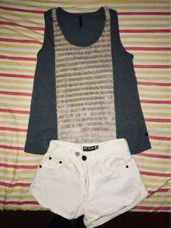 S-M SET D BRAND NEW AUTHENTIC BAYO FURRY TOP AND SHORTS