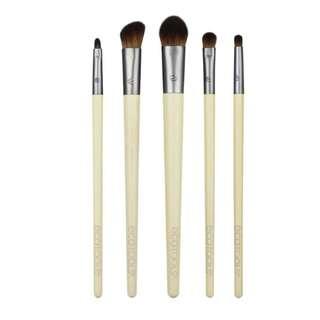 EcoTools, Daily Defined Eye Brush Set, 5 Piece Set & Storage Tray