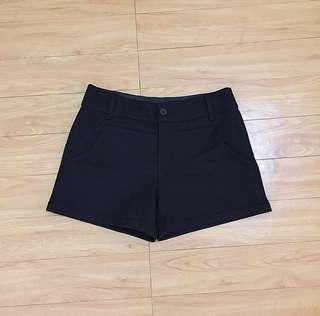 Black Plaid Shorts