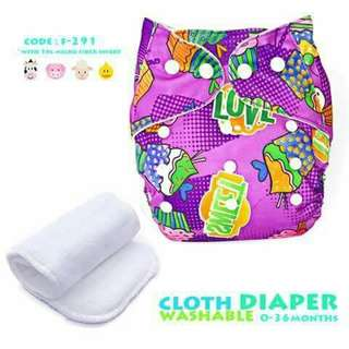 Cloth Diaper with FREE 1pc Microfiber Insert - F291