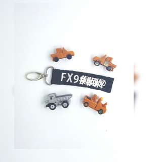 Key Tag - Embroidery Car & Bike No initial