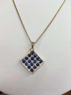 K18蓝宝石➕钻石项链