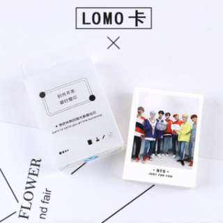 BTS Bangtan boys lomo card in box 45pcs decoration Bookmark Planner Kpop Kwave