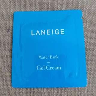[試用裝] [Sample] LANEIGE Water Bank Gel Cream 水庫凝肌舒緩啫喱 1ml 試用裝 有5包, $2一包 [全新]