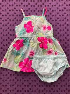 Floral dress with panty in very good condition (bought in US)😊