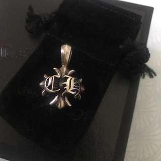 🚚 chrome hearts克羅心 經典logo墜飾 項鍊 925純銀(專櫃正品)附購證