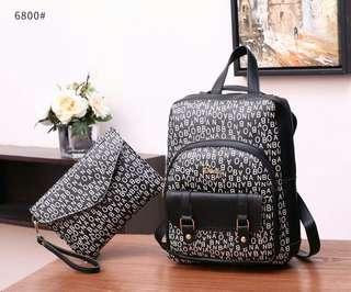 Bonia 2in1 Backpack & Clutch Bag