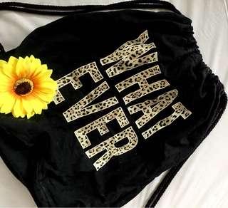 Whatevah! String bag Leopard Pattern
