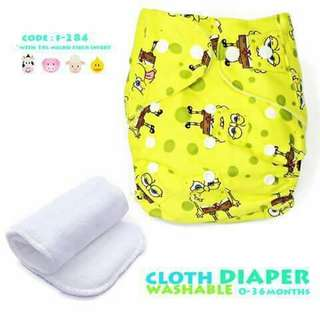 Cloth Diaper with FREE 1pc Microfiber Insert - F284