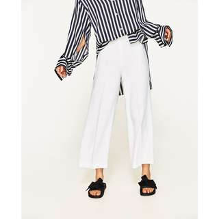 ZARA Flowing Cropped Culottes