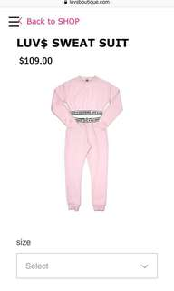 PRICE DROP Luv$ Boutique Pink Sweat Suit