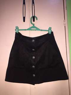 American Eagle Black button down skirt