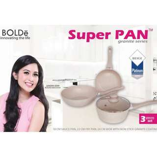 Jual Super Pan Bolde ›› Panci Granite Ceramic ›› Cookware Set