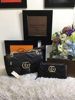 Gucci marmont set with wallet