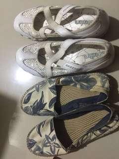 Bundle Skechers white shoes