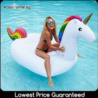 S / L (2 Sizes) Unicorn Rainbow - Adult Inflatable Giant Float Swimming Pool Party
