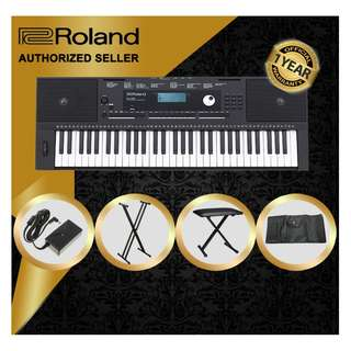 The Pianist Studio   Authorized Seller - Roland E-X20 61 Keys Arranger Keyboard Piano with Keyboard Stand and Keyboard Bench and Keyboard Bag Singapore Sale