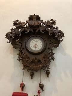 Vintage Clock solid wood (QYOP )