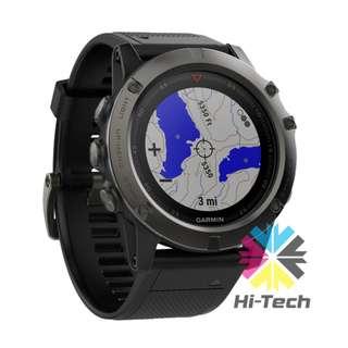 Garmin Fenix 5x 藍寶石黑灰英文版智能手錶 Garmin fenix 5X Sapphire EditionGPS Watch (Slate Gray, Black Band)
