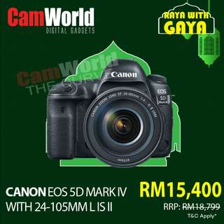 CANON 5D MARK IV WITH 24-105MM L IS II USM