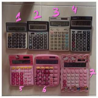 Aurora / Casio / Citizen / Hello Kitty Desktop Office Calculator