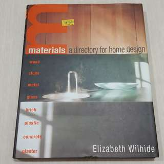 Interior Book: Materials, A Directory for Home Design