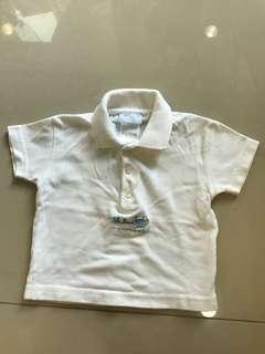 🚚 Jacadi 白色polo衫
