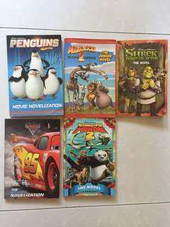 Disney and Dreamworks Cartoon movie novels