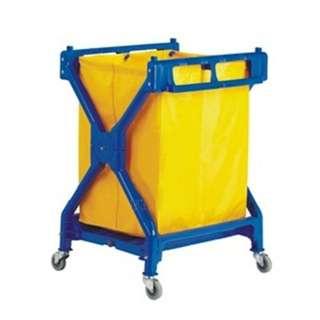 Plastic X-2 Laundry Trolley
