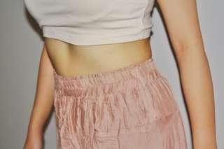 Nude Pink Long Skirt
