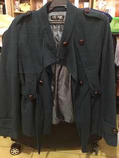 🚚 深綠色雙排扣外套