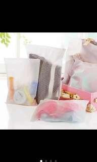 10 pieces Ziplock bags travel organizer pouch