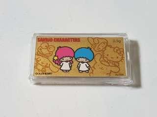 999K Gold Little Twin Star Bar