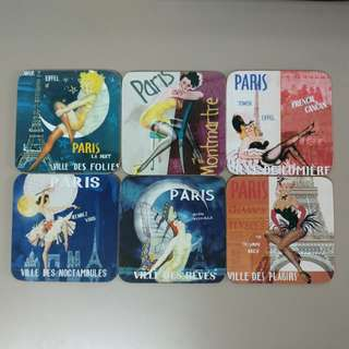 Set of 6 Coasters from Paris