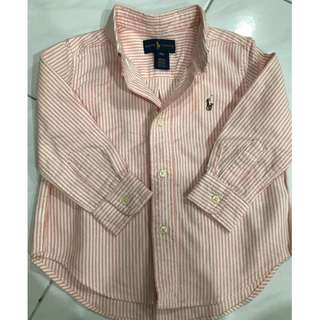 Original Ralph Lauren boy's shirt light orange 18 months