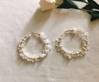 Papillon hoop earrings
