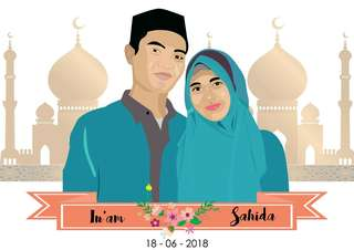 Vector couple cetak+frame 10R