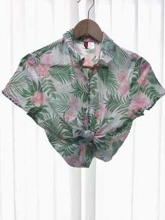 Hawaiian Summer Light Short Sleeve Blouse