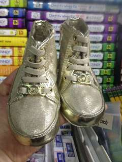 Michael Kors Gold Baby Boots