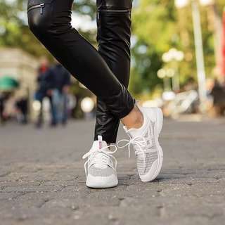 White / Black Rubber Shoes