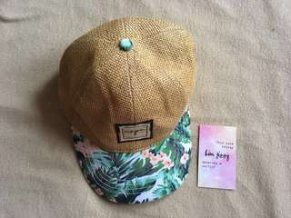 Summer Beach Floral Cap