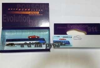 [機場快線 來去如飛]地鐵列車模型 保時捷911金屬車模型~連1張車票