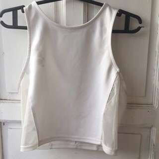 Forever 21 white croptop