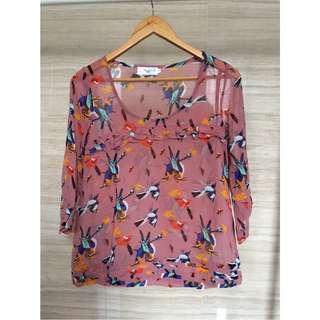 Gaudi chiffon motif blouse